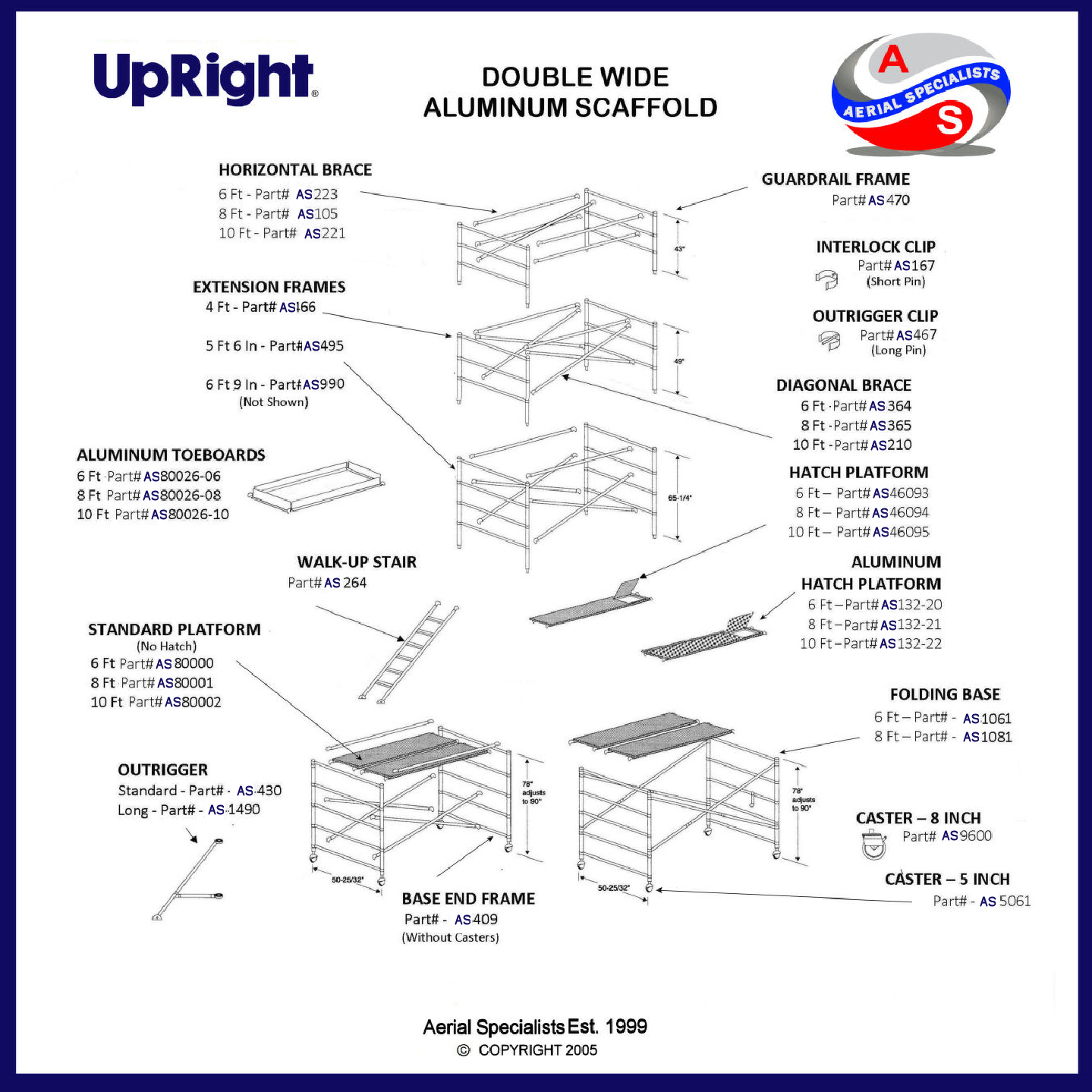 UpRight Scaffolding Drawing