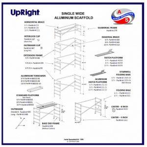 Upright Single Wide Scaffold