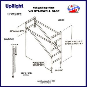 UpRight Scaffolding Stairwell Base Set