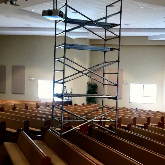Double Scaffold over Pews